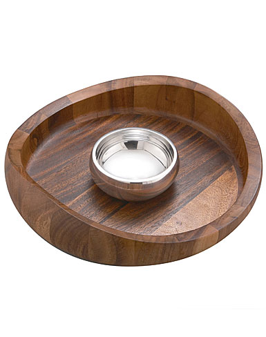 Nambe Butterfly Chip & Dip Bowl