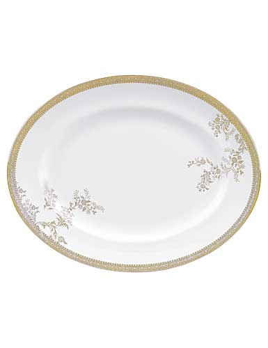 Vera Wang Wedgwood China Vera Lace Gold Oval Platter