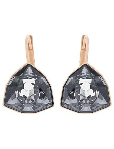 Swarovski Brief Sini Black and Rose Gold Pierced Earrings
