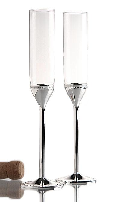 Vera wang wedgwood grosgrain toasting flute pair - Vera wang martini glasses ...