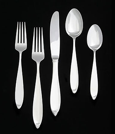 Wedgwood New Oberon Stainless Flatware, 5 Piece Place Setting