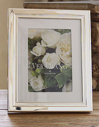 "Vera Wang Wedgwood Chime With Grosgrain Matte 4x6"" Frame"