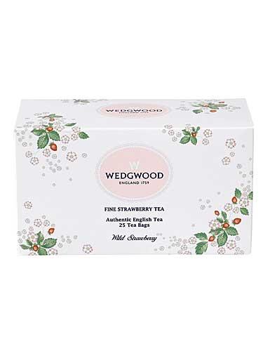 Wedgwood Tea Wild Strawberry Fine Strawberry, Box of 25 Teabags