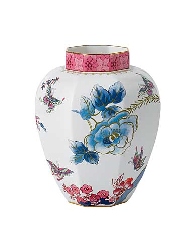 Wedgwood China Expressive Butterfly Bloom Faceted Vase