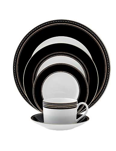 Vera Wang Wedgwood China With Love Noir, 5 Piece Place Setting