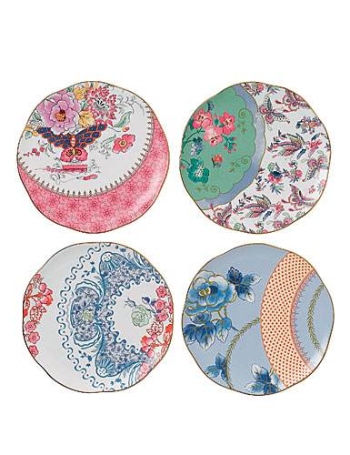 """Wedgwood Butterfly Bloom 8 1/4"""" Plates - Set of 4"""