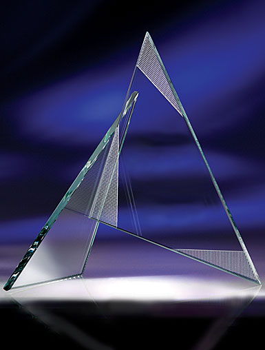 Crystal Blanc, Personalize! Zephyr Award, Small