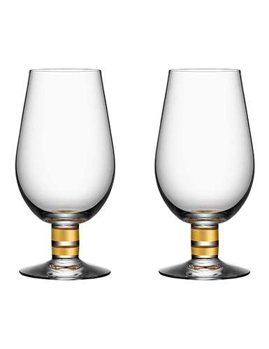Orrefors Morberg Exclusive Beer Glass, Pair