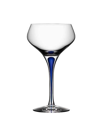 Orrefors Intermezzo Blue Champagne Coupe, Single
