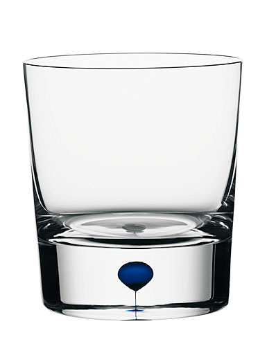 Orrefors Intermezzo Blue Old Fashioned Glass, Single