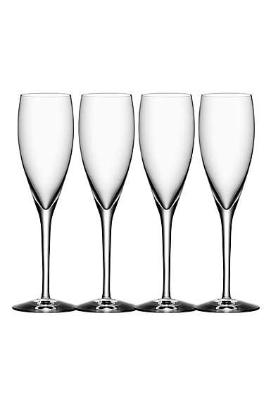 Orrefors More Champagne Flutes, Set of Four