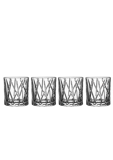 Orrefors City Old Fashioned Glass, Set of Four
