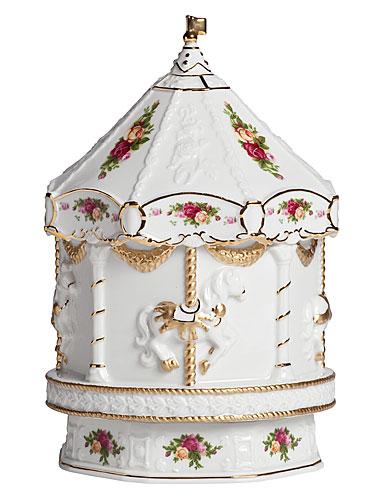 Royal Albert Old Country Roses Musical Carousel