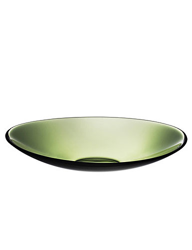 Orrefors Pond Green Large Platter 14 5/8in