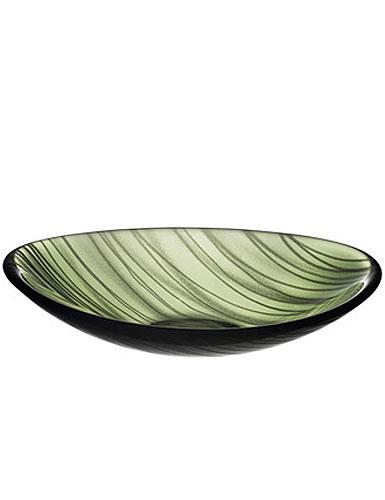 Orrefors Pond Green Platter