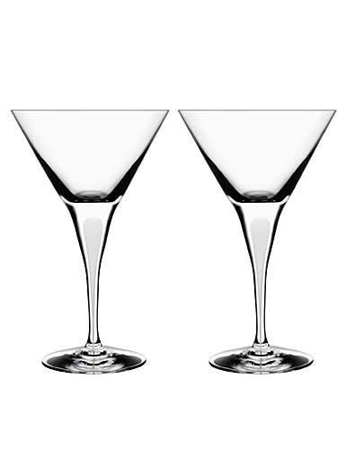 Orrefors Intermezzo Satin Martini, Pair