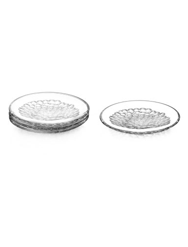 Orrefors Pearl Dessert Plates, Set of Four
