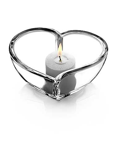 "Orrefors Heart 5"" Bowl and Votive"