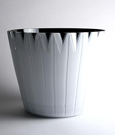 Orrefors White with Black Bowl
