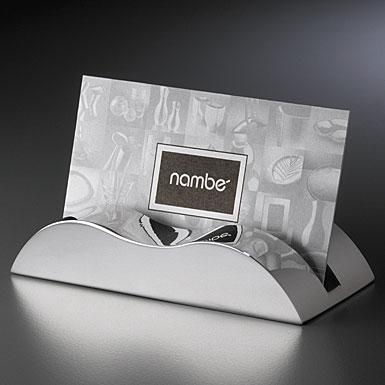 Nambe Metal Wave Business Card Holder