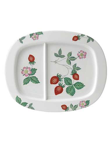 Wedgwood China Wild Strawberry Nurseryware Divided Dish