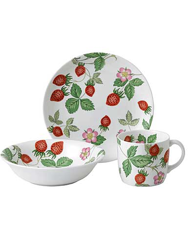 Wedgwood China Wild Strawberry Nurseryware 3-Piece Set