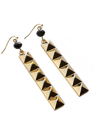 Waterford rebel ella b gold drop earrings pair for Rebel designs jewelry sale