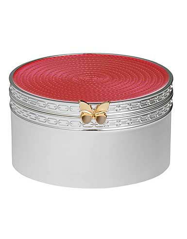 Vera Wang Wedgwood Treasures With Love Pink Butterfly Treasure Box