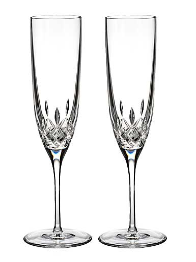 Waterford Lismore Encore Champagne Flute, Pair