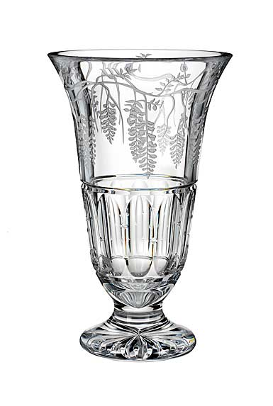 """Waterford House of Waterford Wisteria Lane 14"""" Footed Vase"""