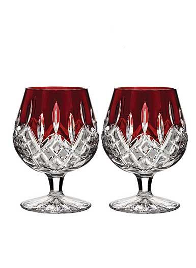 Waterford Lismore Red Brandy, Pair
