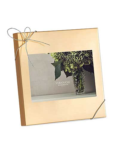 """Vera Wang Wedgwood Love Knots Gold 4x6"""" Picture Frame"""