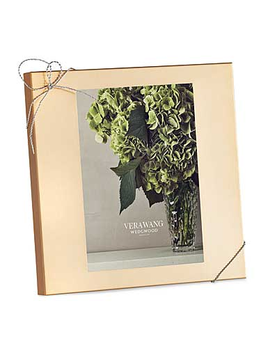 "Vera Wang Wedgwood Love Knots Gold 5x7"" Picture Frame"