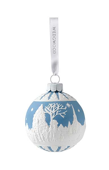 Wedgwood Carol Service Blue Ornament
