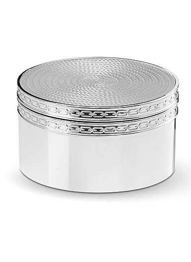 Vera Wang Wedgwood With Love Nouveau Covered Box, Silver