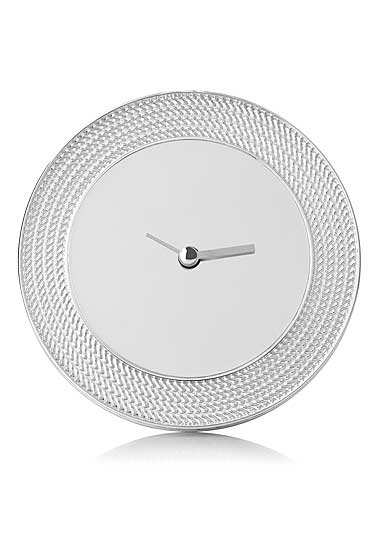 Vera Wang Wedgwood With Love Nouveau Silver Clock