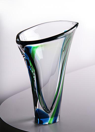 Kosta Boda Verde Vase, Green
