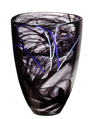 Kosta Boda Contrast Vase, Black