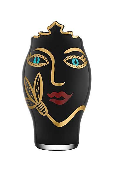 Kosta Boda Open Minds Black and Gold Vase, Limited Edition