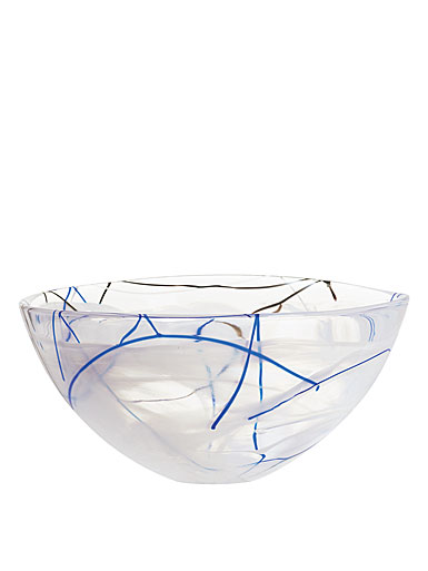 Kosta Boda Contrast Large Bowl, Blue