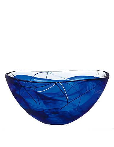Kosta Boda Contrast Medium Bowl, Blue