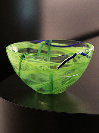 Kosta Boda Contrast Small Bowl, Lime, 6 1/4in