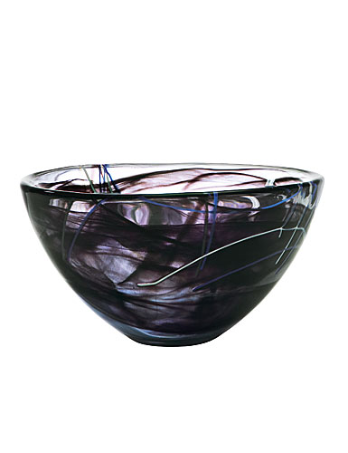 Kosta Boda Contrast Medium Bowl, Black
