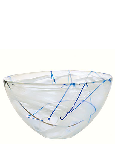 Kosta Boda Contrast Large Bowl, White, 13 3/4in