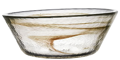 Kosta Boda Mine Extra Large Bowl, Chocolate