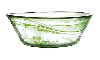 Kosta Boda Mine Moss Green Bowl 9 7/8in