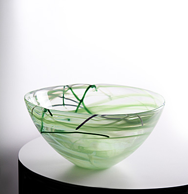 Kosta Boda Contrast Bowl, Light Green
