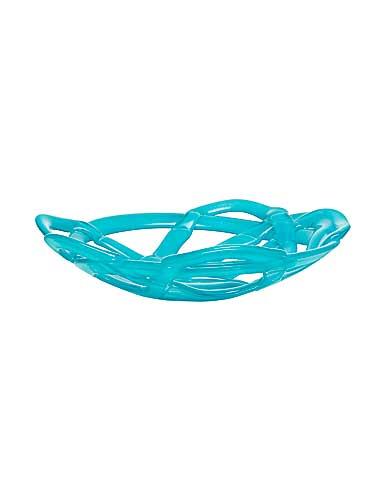 Kosta Boda Large Basket Bowl, Turquoise