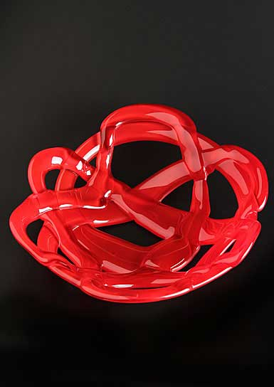Kosta Boda Small Basket Bowl, Red