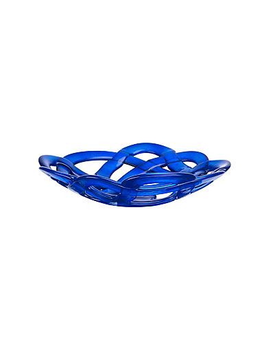 Kosta Boda Large Basket, Blue